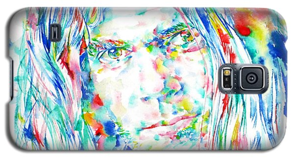 Neil Young Galaxy S5 Case - Neil Young - Watercolor Portrait by Fabrizio Cassetta