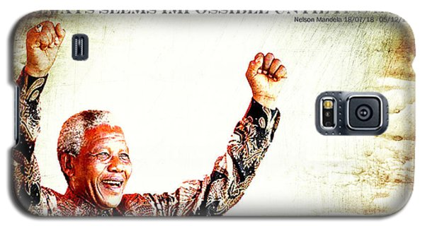 Nelson Mandela Galaxy S5 Case by Spikey Mouse Photography