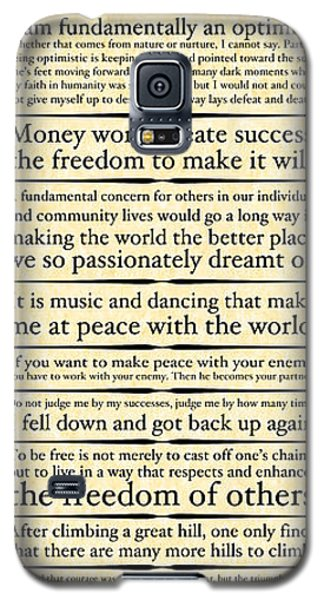 Nelson Mandela Words And Wisdom - Vertical Galaxy S5 Case