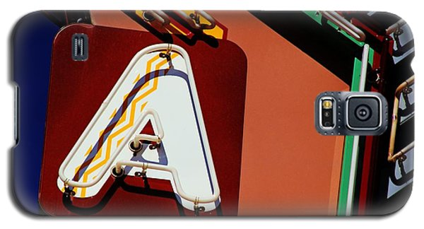 Neon A - Aztec Theater Galaxy S5 Case by Daniel Woodrum