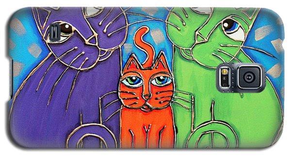 Neon Cat Trio #1 Galaxy S5 Case