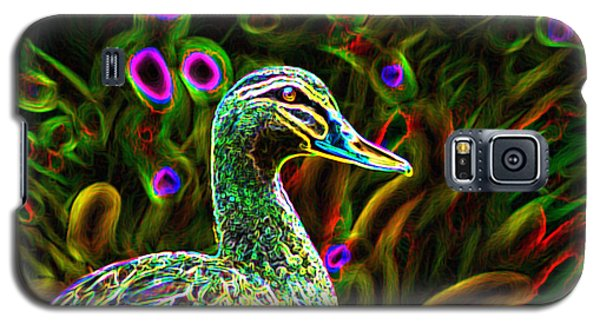 Galaxy S5 Case featuring the photograph Neon Duck by Naomi Burgess