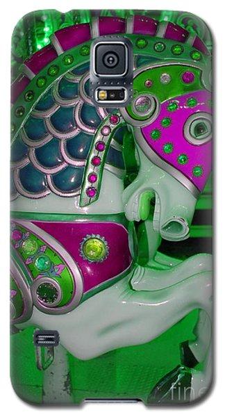 Neon Green Carousel Horse Galaxy S5 Case