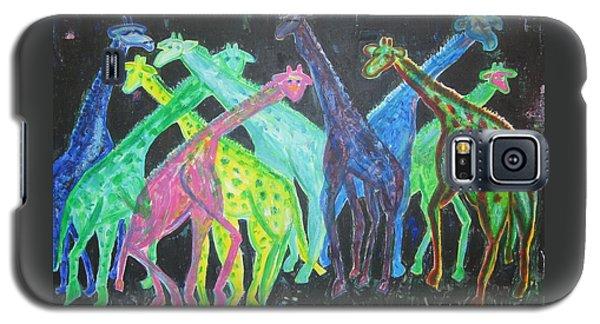 Neon Longnecks Galaxy S5 Case by Diane Pape