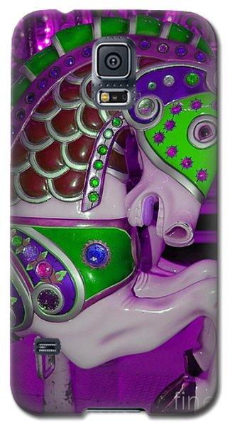 Neon Purple Carousel Horse Galaxy S5 Case