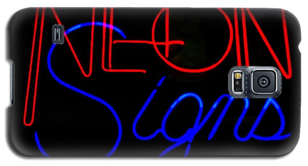 Neon Signs In Black Galaxy S5 Case by Kelly Awad