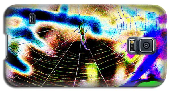 Neon Spider Galaxy S5 Case by Kim Pate