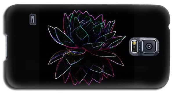 Neon Water Lily Galaxy S5 Case