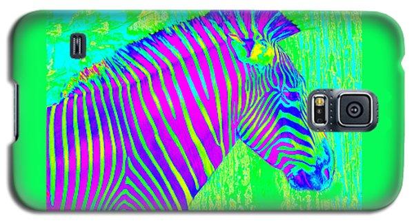 Neon Zebra 2 Galaxy S5 Case by Jane Schnetlage