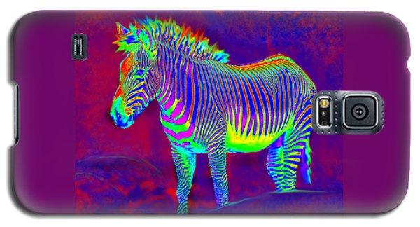 Neon Zebra Galaxy S5 Case by Jane Schnetlage