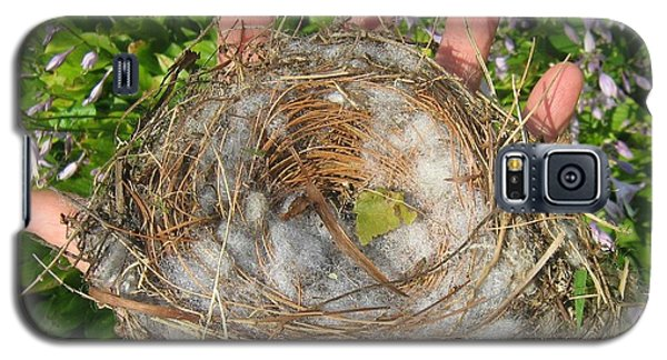 Galaxy S5 Case featuring the photograph A Nest In Hand by Bruce Carpenter