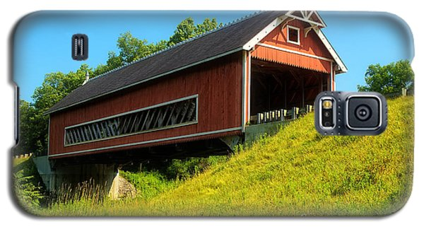 Galaxy S5 Case featuring the photograph Netcher Road Bridge by Skip Tribby