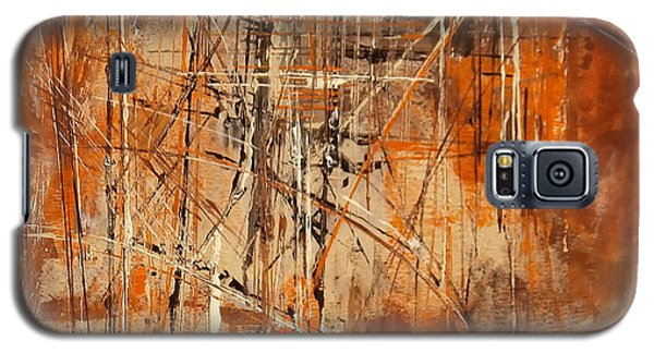 Galaxy S5 Case featuring the painting Network by Buck Buchheister
