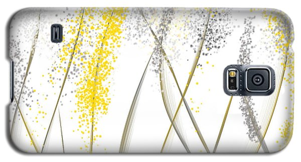 Neutral Sunshine - Yellow And Gray Modern Art Galaxy S5 Case by Lourry Legarde