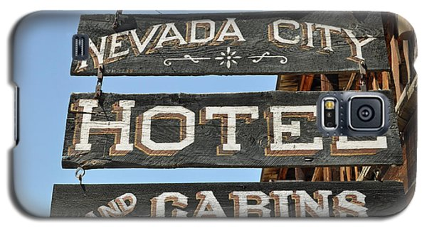 Nevada City Hotel Sign Galaxy S5 Case