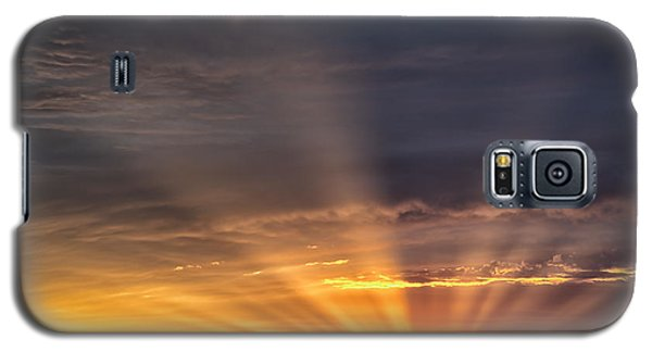 Galaxy S5 Case featuring the photograph Nevada Sunset by Janis Knight