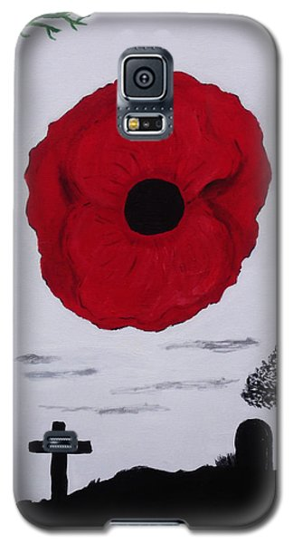 Galaxy S5 Case featuring the painting Never Forgotten by Martin Blakeley