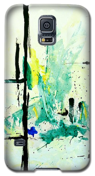 Galaxy S5 Case featuring the painting New Beginning by Teddy Campagna