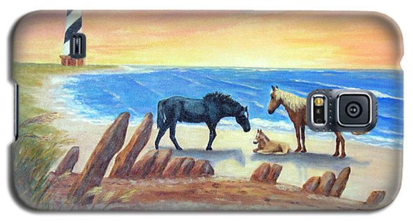 Galaxy S5 Case featuring the painting New Day - Hatteras by Fran Brooks