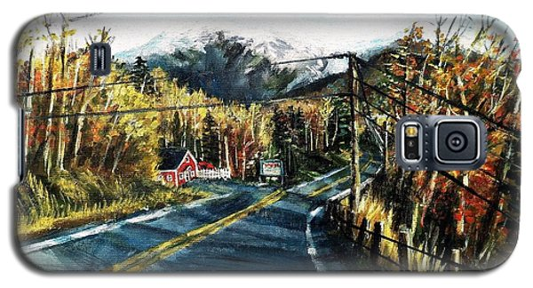 Galaxy S5 Case featuring the painting New England Drive by Shana Rowe Jackson