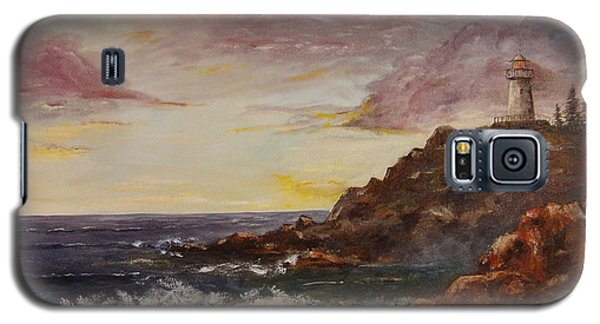 Galaxy S5 Case featuring the painting New England Storm by Lee Piper