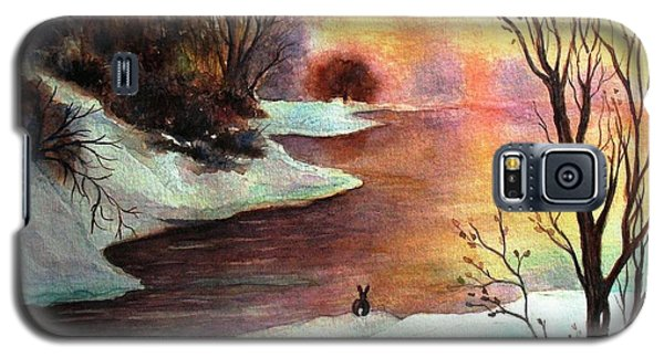 Galaxy S5 Case featuring the painting New Every Morning  by Hazel Holland
