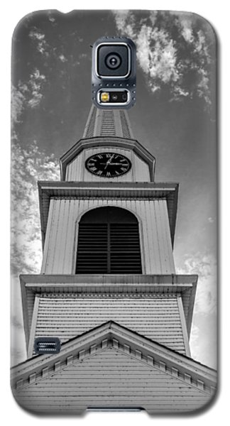 New Hampshire Steeple Detailed View Black And White Galaxy S5 Case by Karen Stephenson