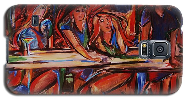 Galaxy S5 Case featuring the painting New Hour by Dawn Fisher