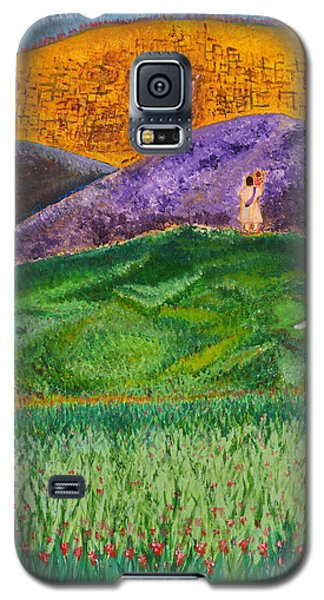 Galaxy S5 Case featuring the painting New Jerusalem by Cassie Sears