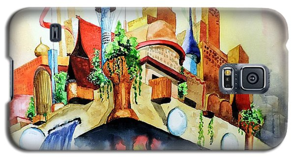 Galaxy S5 Case featuring the painting New Jerusalem by Tom Riggs