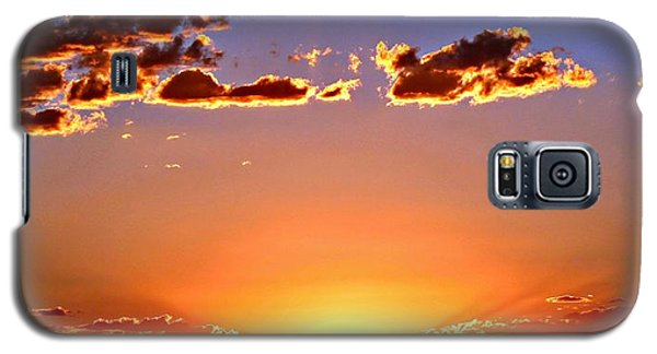 Galaxy S5 Case featuring the photograph New Mexico Sunset Glow by Barbara Chichester