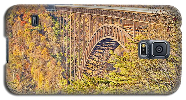 New River Gorge Single-span Arch Bridge In Autumn. Galaxy S5 Case