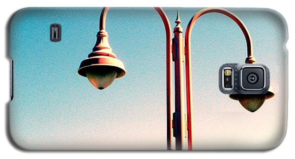 Galaxy S5 Case featuring the digital art Beach Lamp Post by Valerie Reeves