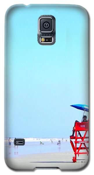 Galaxy S5 Case featuring the digital art New Smyrna Lifeguard by Valerie Reeves