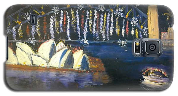 Galaxy S5 Case featuring the painting New Year Eve On Sydney Harbour by Pamela  Meredith
