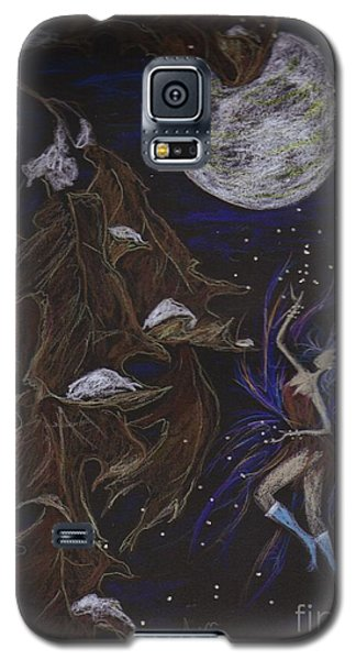 Galaxy S5 Case featuring the drawing New Years Eve by Dawn Fairies