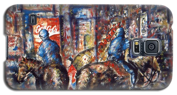 New York Broadway At Night - Oil On Canvas Painting Galaxy S5 Case
