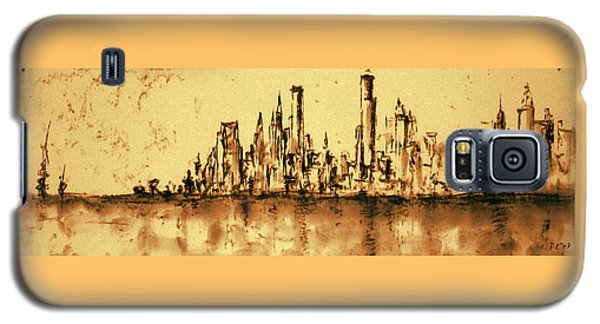 New York City Skyline 79 - Water Color Panorama Galaxy S5 Case