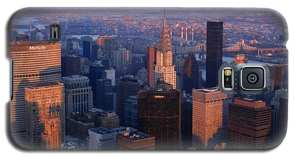 New York City At Dusk Galaxy S5 Case by Emmy Marie Vickers