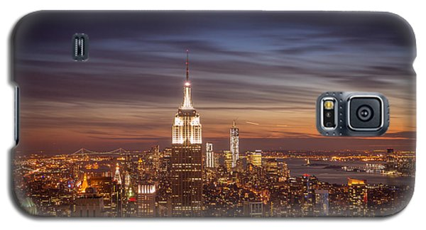 City Sunset Galaxy S5 Case - New York City Skyline And Empire State Building At Dusk by Vivienne Gucwa