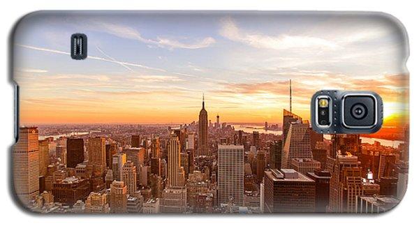 New York City - Sunset Skyline Galaxy S5 Case