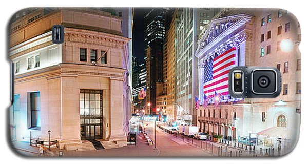 New York City Wall Street Panorama Galaxy S5 Case