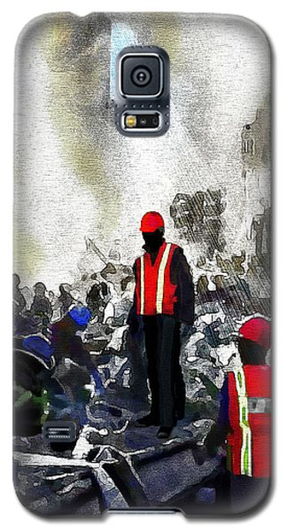 Galaxy S5 Case featuring the painting New York Heros by Jann Paxton