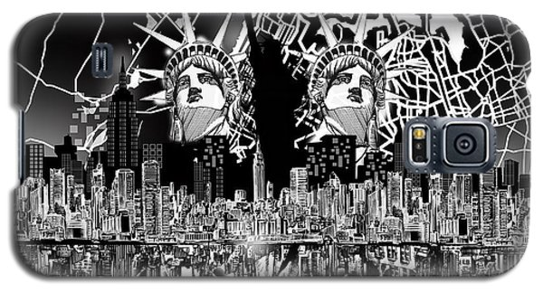 New York Map Black And White 2 Galaxy S5 Case