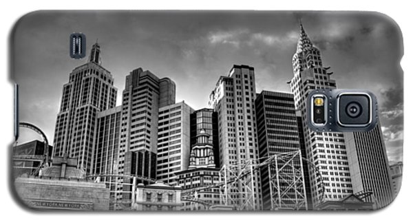 New York New York Black And White Galaxy S5 Case