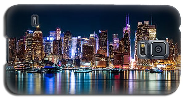 New York Panorama By Night Galaxy S5 Case