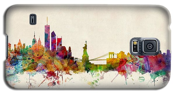 Apple Galaxy S5 Case - New York Skyline by Michael Tompsett