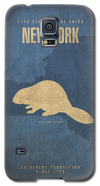 New York State Facts Minimalist Movie Poster Art  Galaxy S5 Case by Design Turnpike