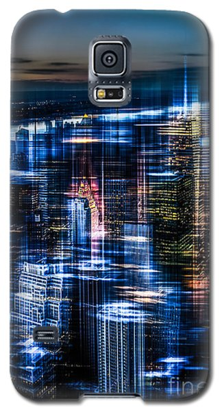 New York - The Night Awakes - Blue I Galaxy S5 Case