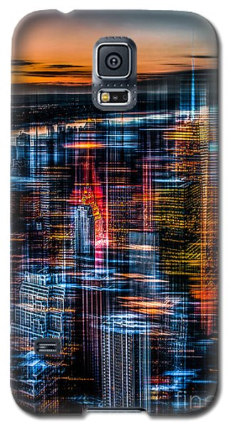 New York- The Night Awakes - Orange Galaxy S5 Case